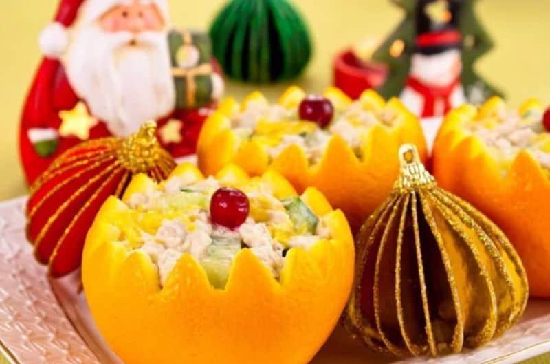 новогоднего рецепт салата свинья» в апельсинах