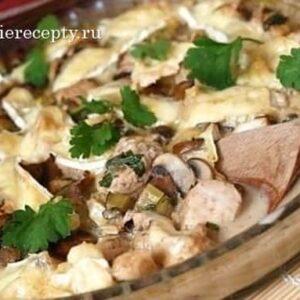 Курица в сливках с шампиньонами на сковороде - вкусный рецепт