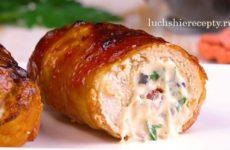 Куриные рулетики с сыром в духовке рецепт с фото – пошагово