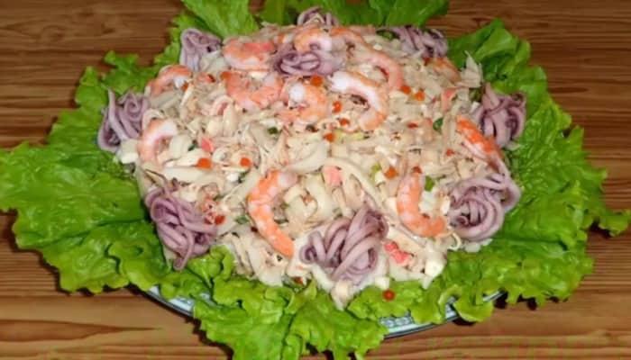 новогодний салат морской каприз