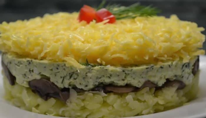 праздничный салат грибы под шубой