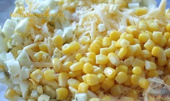 добавляем сладкую кукурузку