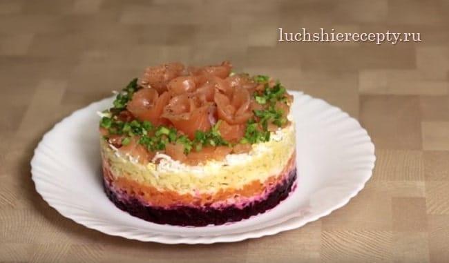 рецепт салата семга на шубе