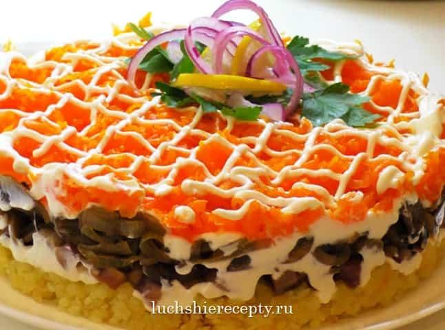 рецепт салата вкусная сельдь под лисьей шубой