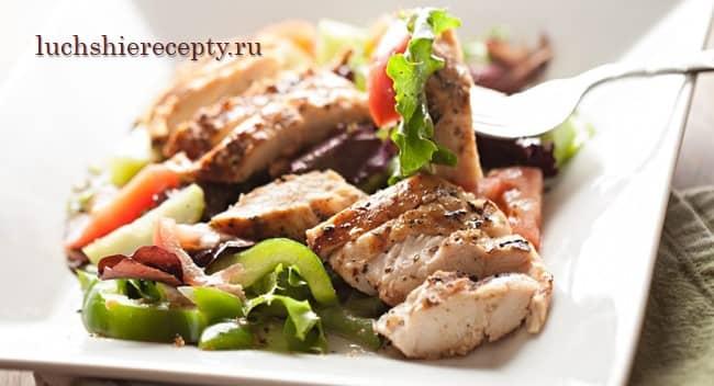 салаты с курицей рецепты с фото простые и вкусные
