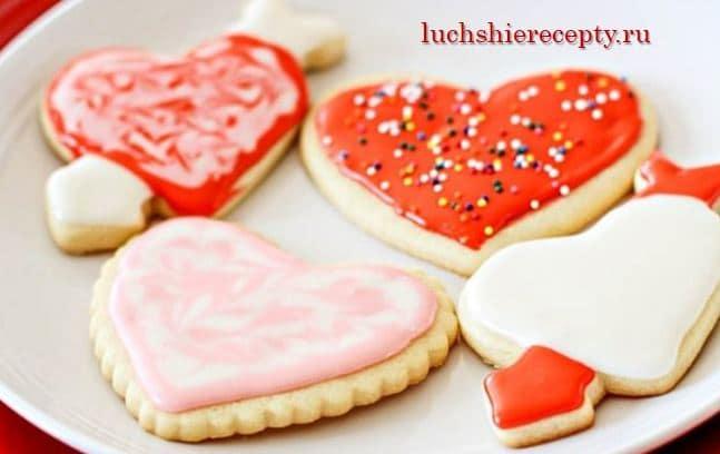 как испечь печенье на день влюбленных