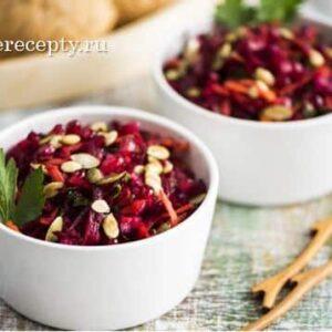 Салат из Свеклы - 7 Очень Вкусных Рецептов с Фото