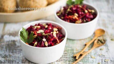 Салат из Свеклы — 7 Очень Вкусных Рецептов с Фото