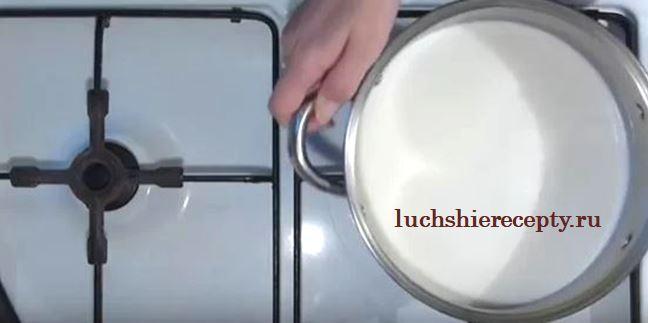 подогреваем молоко до тёплой температуры
