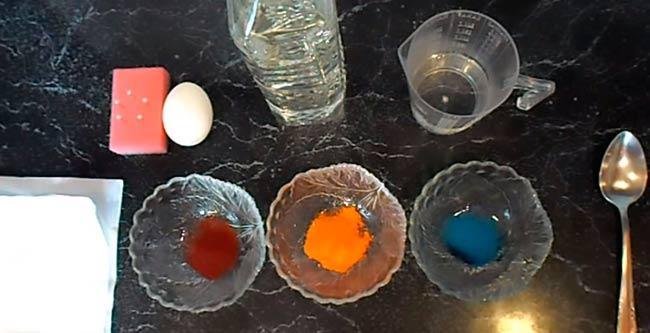 красим яйца с помощью пищевых красителей