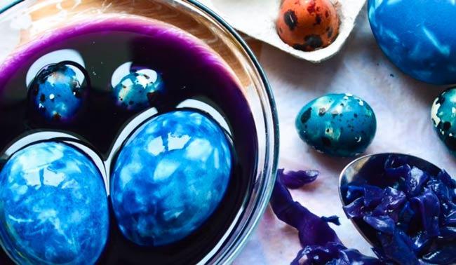 мраморный цвет пасхального яйца