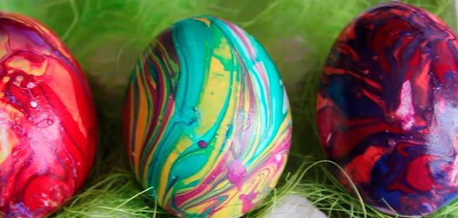 яйца покрашенные разными лаками