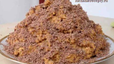 Торт Муравейник Классический из печенья со сгущенкой без выпечки