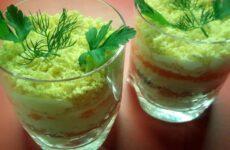 Салат из красной рыбы очень вкусный - рецепт слоями