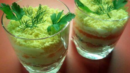 Салат из Красной Рыбы Очень Вкусный – Рецепт Слоями