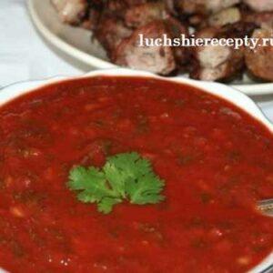 Соус для Шашлыка из Томатной Пасты и Зелени - Очень Вкусный Рецепт