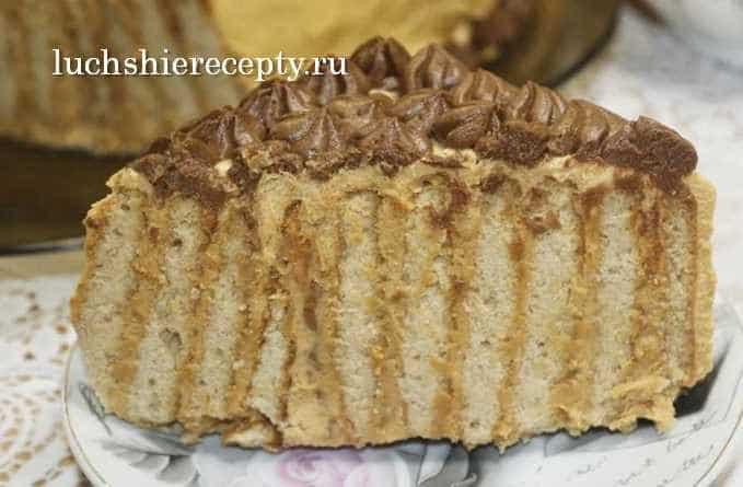 торт из печенья в разрезе
