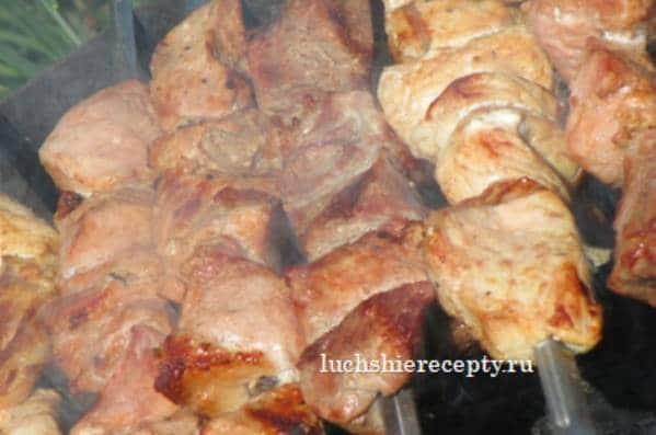 шашлык на минералке из свинины