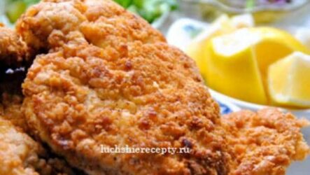 Шницель из Свинины на Сковороде – Очень Сочный и Вкусный