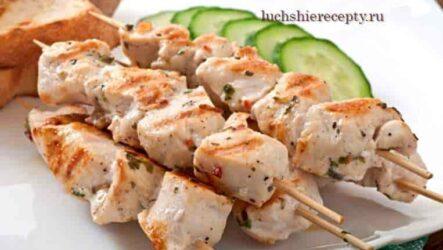 Шашлык из свинины в духовке на шпажках - очень вкусный рецепт