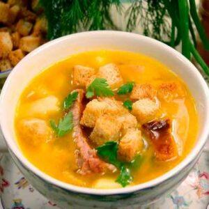 Гороховый Суп с Копченостями - Простой Классический Рецепт с Фото