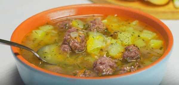 как приготовить суп с фрикадельками