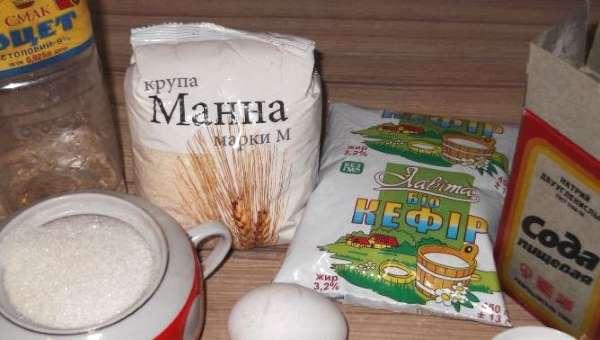 продукты для манника на кефире