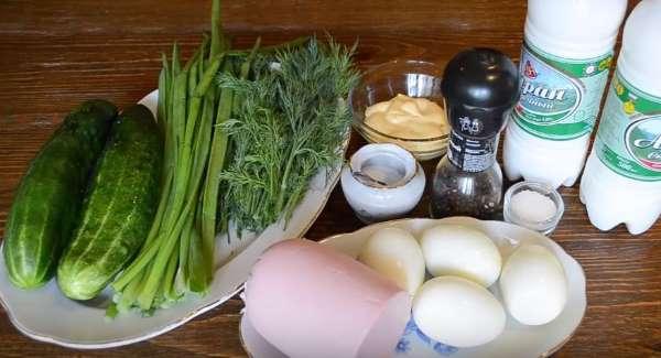 продукты для окрошки на айране