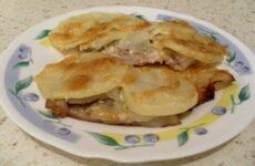 Мясо По-Французски с Картошкой в Духовке из Свинины