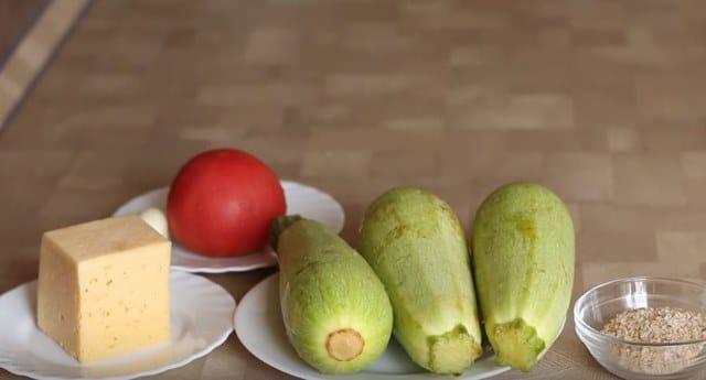 продукты для рецепта кабачка