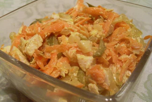 рецепт салата обжорка с курицей