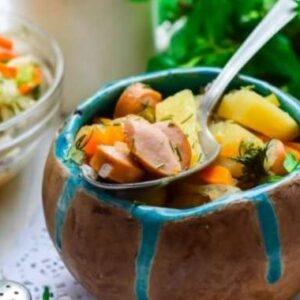 Тушёная Картошка с Сосисками Простой и Вкусный Рецепт