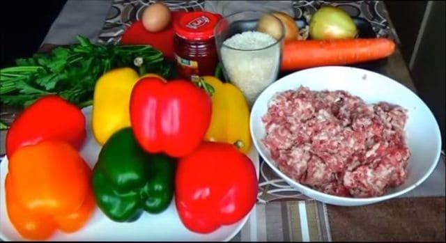 продукты для фаршированного перца