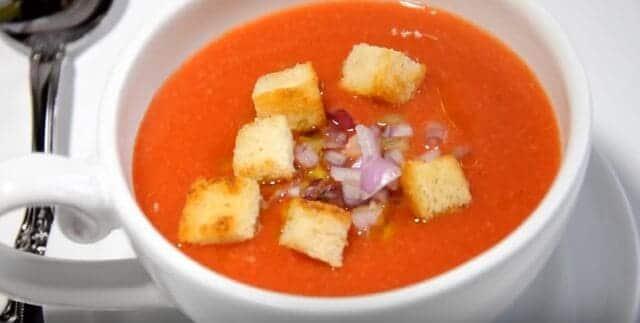 рецепт холодного томатного гаспачо супа