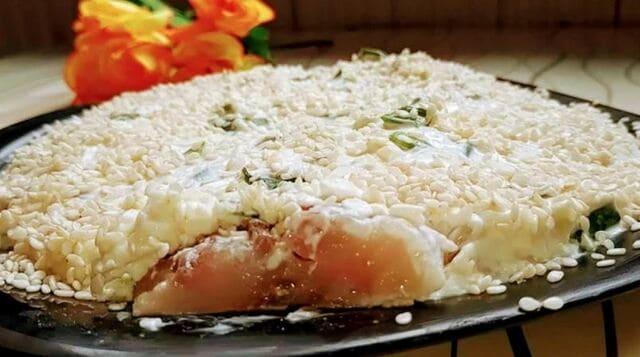 закуска из селёдки с плавленным сыром