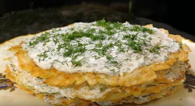 как приготовить торт из кабачков и картофеля