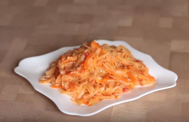 как приготовить тушёную капусту пошаговый рецепт