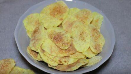 Домашние чипсы в микроволновке за 5 минут - быстро и вкусно