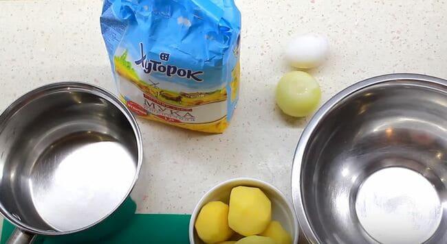 продукты для приготовления вареников