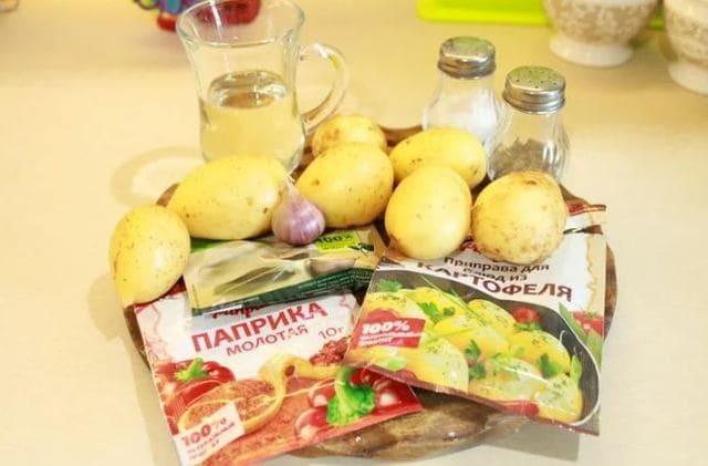 продукты для рецепта картошка по деревенски