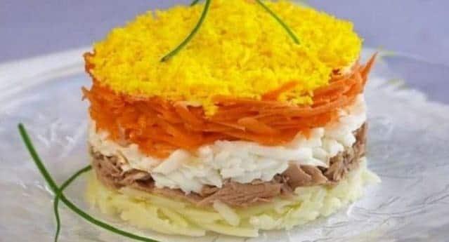 салаты из рыбных консервов