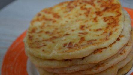 Сырные лепёшки на кефире на сковороде рецепт с фото