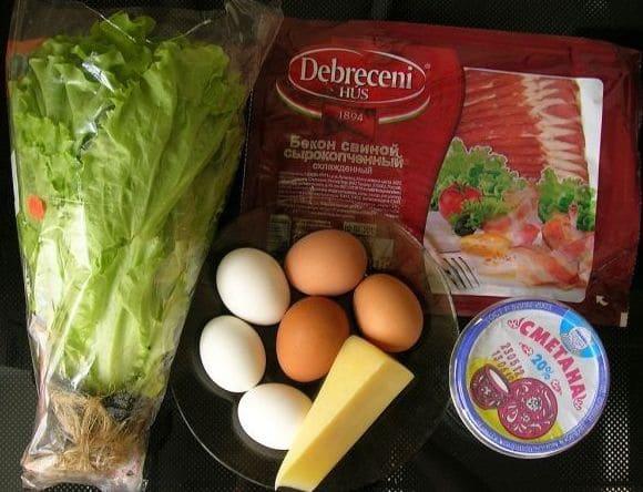 для приготовления салата потребуются