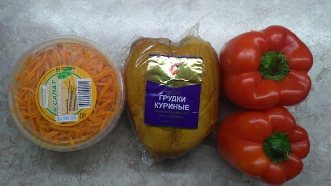 для салатика нам потребуются продукты