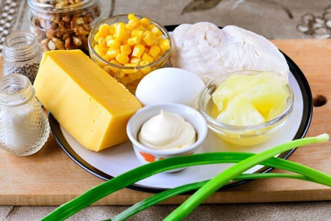 ингредиенты которые нужны для салатика