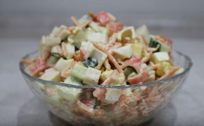 крабовый салат с корейской морковкой