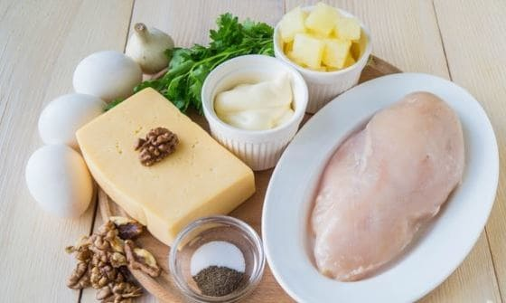 нужные продукты для салата