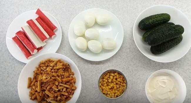 Гренки с крабовыми палочками - рецепт пошаговый с фото