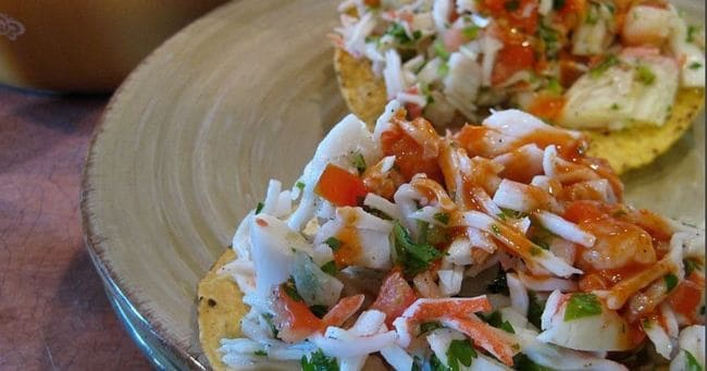 рецепт крабового салата с креветками