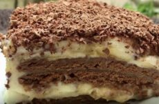 Банановый торт без выпечки быстро и просто
